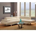 9601 Warren Sectional Bonded leather in Ivory