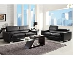 9603blk Vernon Sofa Set Black