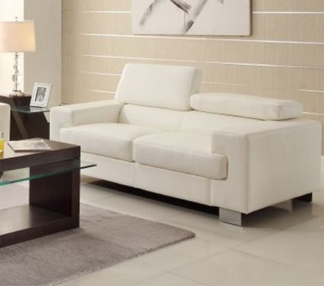 9603wht Vernon Loveseat White