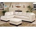 9958 Tufton White Leather Sectional