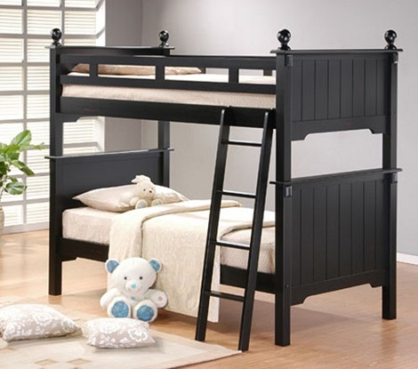 Pottery Bunk bed - Black