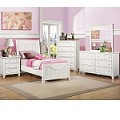 2136W Alissa Youth Bedroom Set in White