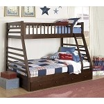 Dreamland Twin-Full Bunk Bed with Storage Drawers