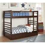 Dreamland Twin-Twin Bunk Bed with Storage Drawers