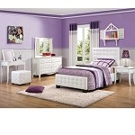 Sparkle Upholstered Bedroom Set - White