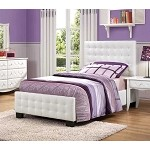 Sparkle Upholstered Bed - White