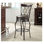 DS-738-501 Metal/Wood Counter Stool-Barstool in Espresso/Bronze Finish
