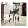 DS-740-501 Metal/Wood Counter Stool-Barstool in Espresso/Bronze Finish