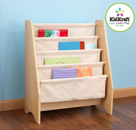 Dreamfurniture Com Sling Bookshelf Natural