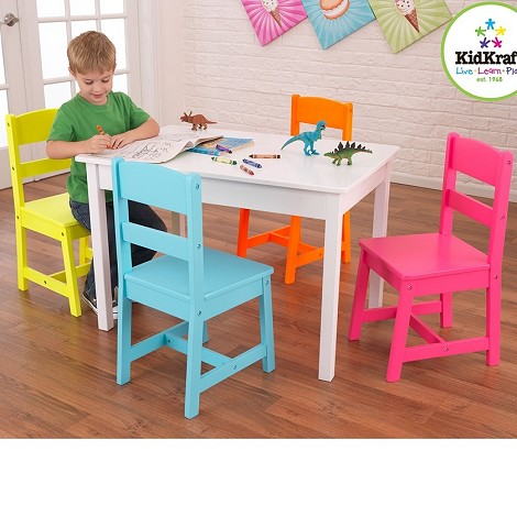 Highlighter Table & 4-Chair Set
