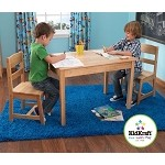 Rectangle Table & Chair Set - Natural