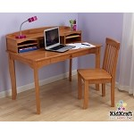 Avalon Desk with Hutch - Honey