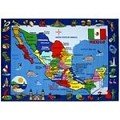 L.A Rugs Map Of Mexico Rug