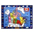 L.A Rugs Map Of Canada Rug