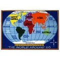 L.A Rugs Kids World Map Rug