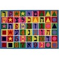 L.A Rugs Hebrew Numbers & Letters Rug
