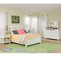 Olivia Low Poster Bed w/Storage Footboard Bedroom Set