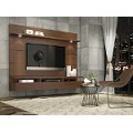 Manhattan Comfort Cabrini Theater Entertainment Center Panel 1.8 in Nut Brown
