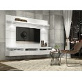 Manhattan Comfort Cabrini Theater Entertainment Center Panel 1.8 in White Gloss