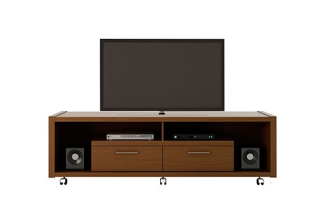 Manhattan Comfort Cornelia TV Stand in Nut Brown