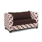 Modern Kids Sofa Chenille Dot Chocolate Micro