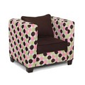 Modern Kids Chair Chenille Dot Chocolate Micro