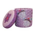 Cup Cake Collection Lavender Storage Ottoman