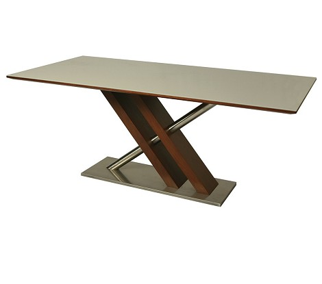 "Charlize dining table with 70"" x 37"" rectangular glass top"