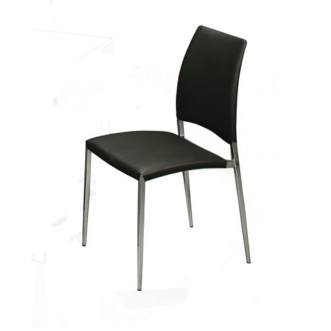 Ferguson side chair in Pu Black