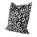 """C"" Pattern Black And White Anywhere Lounger"