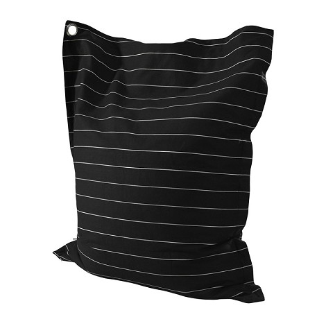 Striped Black And White Anywhere Lounger