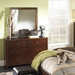 Albany Dresser & Mirror in Antique Walnut