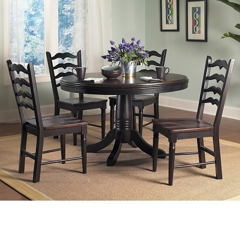 Seville Dining Set in Brown and Black