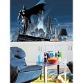 Batman Chair Rail Prepasted Mural 6' X 10.5' - Ultra-Strippable