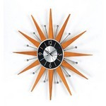 George Nelson Wooden Starburst Clock