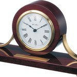 Piano Mahogany Wood Mantle Clock