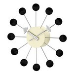George Nelson Ball Clock Black
