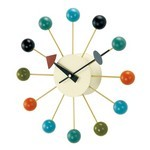 George Nelson Ball Clock Multi-Colored