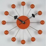 George Nelson Ball Clock Orange Ball