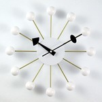 George Nelson Ball Clock White Ball