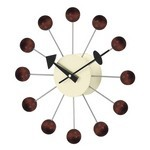 George Nelson Ball Clock Walnut