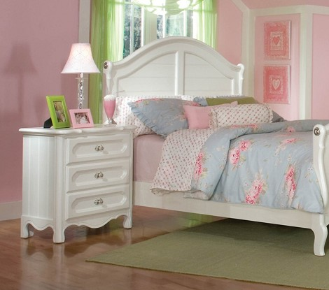 Hayley Youth Bed in White