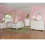 Hayley Youth Bedroom Set in White