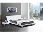 Story White Platform Bed & 2 Nightstands