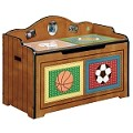 Teamson Kids Boys Toy Chest - Lil' Sports Fan