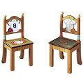 Teamson Kids-  Boys Set of 2 Chairs - Lil' Sports Fan