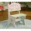 Teamson Kids Girls Time Out Chair - Crackled Rose