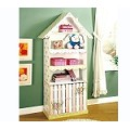 Teamson Kids Girls Bookcase with Cabinet - Crackled Rose