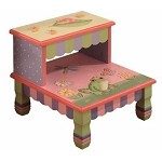 Teamson Kids Girls Step Stool - Magic Garden