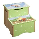 Teamson Kids Boys Step Stool with Storage - Transportation